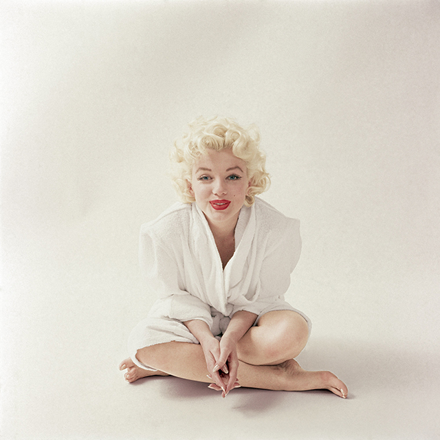 September 1955, shot after Marilyn finished her makeup.
