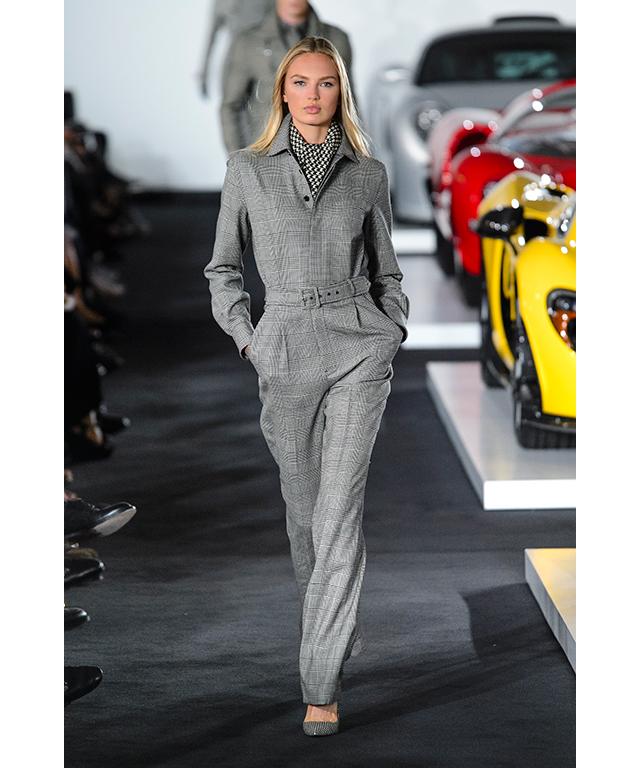 Some pieces, like this jumpsuit, were overtly racewear-inspired