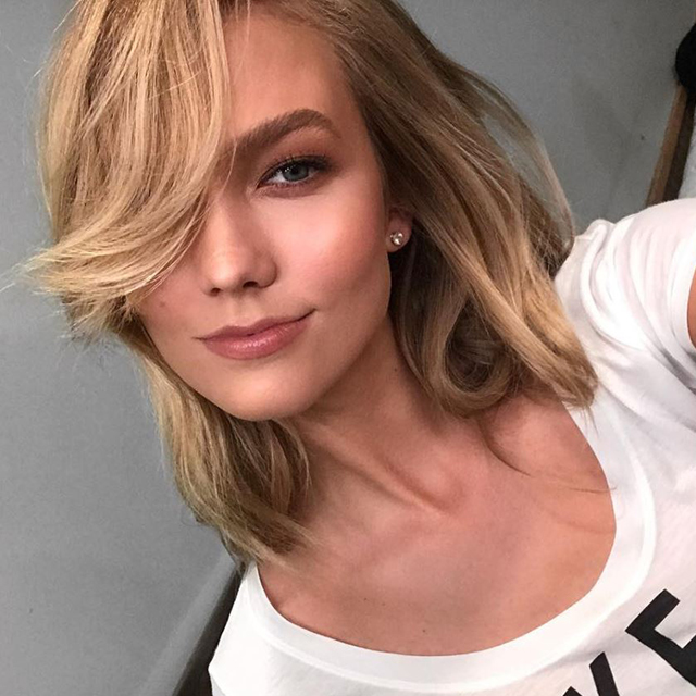 "9.	Joss styles medium textured hair, such as client Victoria's Secret Angel Karlie Kloss, with plenty of wave in the hair. ""I'm loving layered, curled flicks so there is plenty of movement around the face when she is talking and walking.""  Pictured: Karlie's Kloss hair styled by Harry Josh"