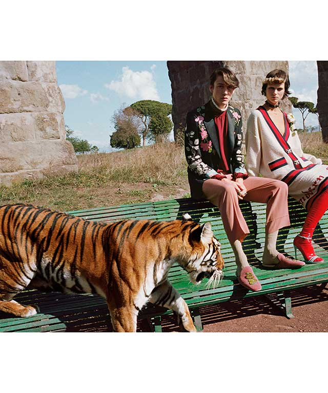 Gucci Spring Summer 2017 shot by Glen Luchford.
