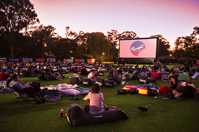 "1.  From advanced screenings to cult classics, the Moonlight cinema is back over the summer with a heavy bundle of flicks in tow. Aside from the best films of the summer, this year's event will feature food trucks, ""Doggie Nights"" (Sydney, Brisbane, Melbourne and Adelaide only) where your pooch can come along and be pampered and a BYO license (except for Brisbane).   Adelaide, Dec 1 – Feb 19; Brisbane, Dec 8 – March 5; Melbourne, Dec 8 – Apr 2; Perth, Dec 3 – Apr 2; Sydney, Dec 1 – Apr 2."