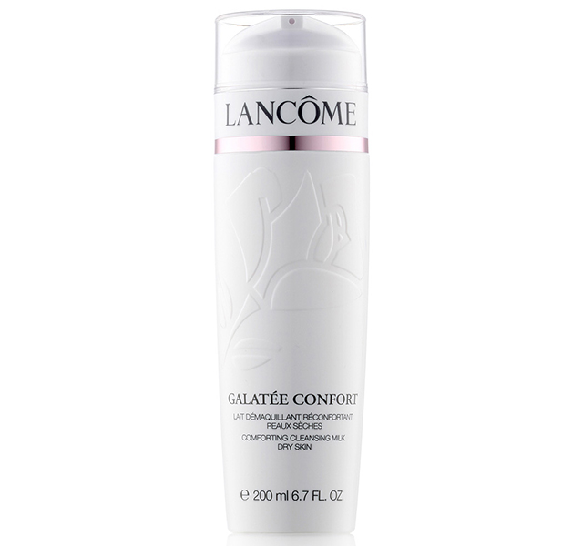 Cleanser: Lancôme Galatee Comfort Cleanising Milk is gentle but still removes all impurities after a long day on set and leaves my skin feeling fresh and ready for the next day.
