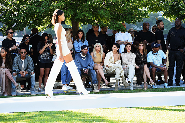 Of course, the Kanye narrative was far from over. Taking over the airwaves again in September for his Yeezy Season 4, Kim pulled out her most naked outfits, models fainted from heat exhaustion and Kanye made a s**tload of cash after peddling Yeezy merch.