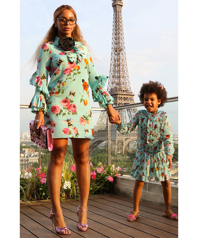 When she and Blue Ivy dressed as twins