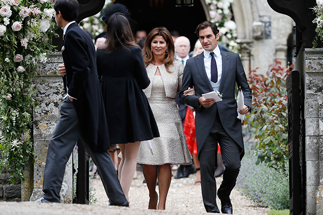 11.	Tennis champ Roger Federer and wife Mirka were also among the guests.