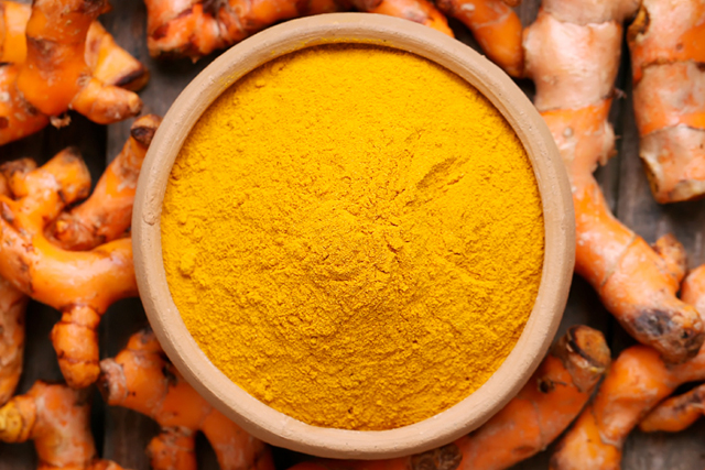 10. Turmeric. The bright yellow powder has amazing anti-aging properties!