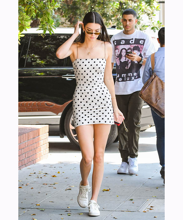 Kendall Jenner in Bec & Bridge dress.