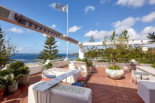 Coogee Pavilion Rooftop, Coogee: On the top level of eating and drinking funhouse, Coogee Pavilion, expect beach beauty accompanied by Mediterranean fare.