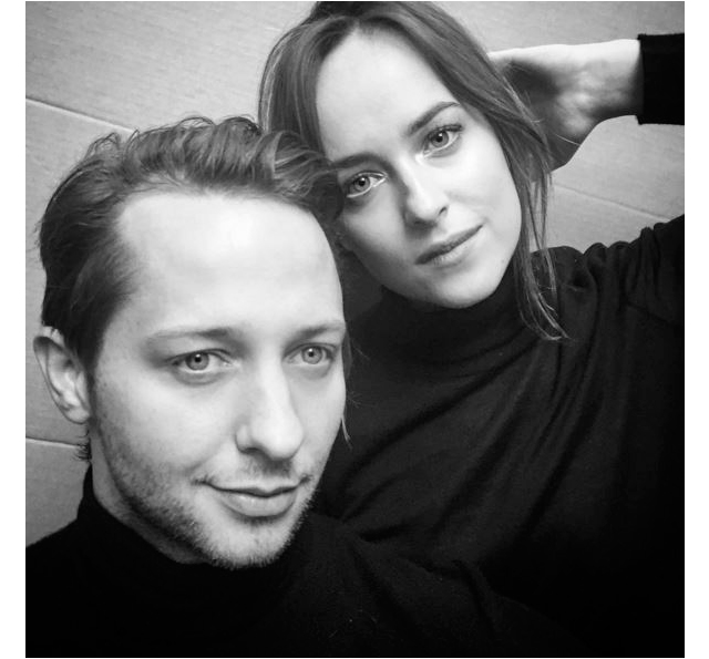 With Dakota Johnson