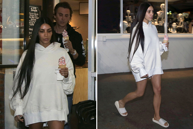 Enter sad Kim. Absent from social media and public life since early October, this pared-back version of Kim getting ice-cream in hoodie and slides was so drastic, it prompted family members to rethink their social media strategy for a brief moment. Kendall went off Insta for one whole week, while a new Kardashian duo stepped into the shadow left by Kim…