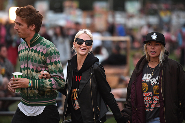 James Cook, Poppy Delevingne and Jess Hart