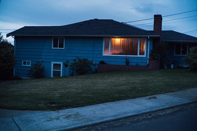 13.	The neighbourhood that doubled as Laura Palmer's home. Reflected in the window is the sunset.