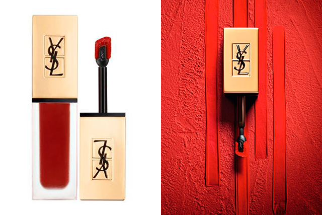 14.	YSL Tatouage Couture Matte Stain in Black Red Code, $49, davidjones.com.au. Available February 2018. You may have to wait until the end of summer for this one, but the wait is worth it. Intense, matte pigment with the ease of a wand application, YSL's stain lives up to its name. We love this rich wine shade.