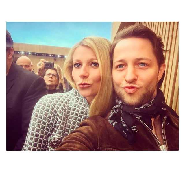 With Gwyneth Paltrow