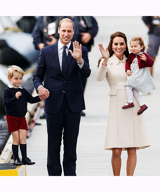 The Duke and Duchess of Cambridge, Prince George and Princess Charlotte