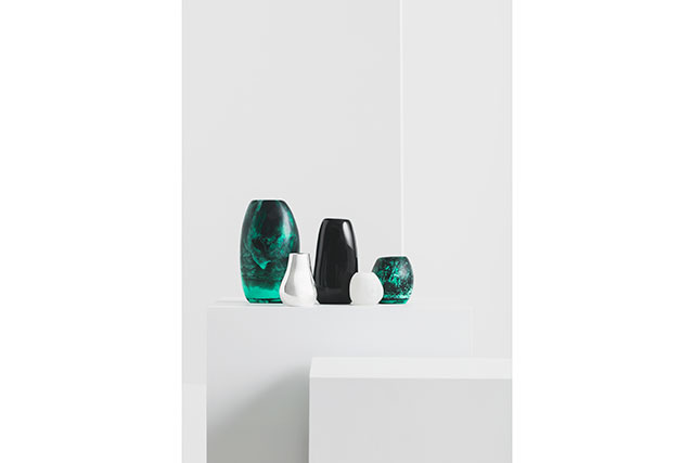 Assortment of vases