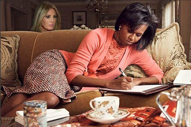 Thank god for the memes. From Melania Trump's eerily similar (ok, plagiarised) Michelle Obama speech to the fallout from the final result, at least we could see the funny side?