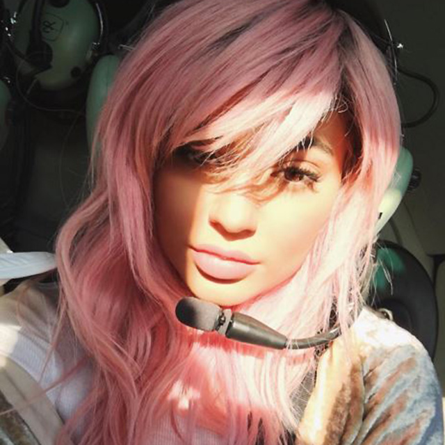 ...And Kylie went for a softer pink wig earlier this year.