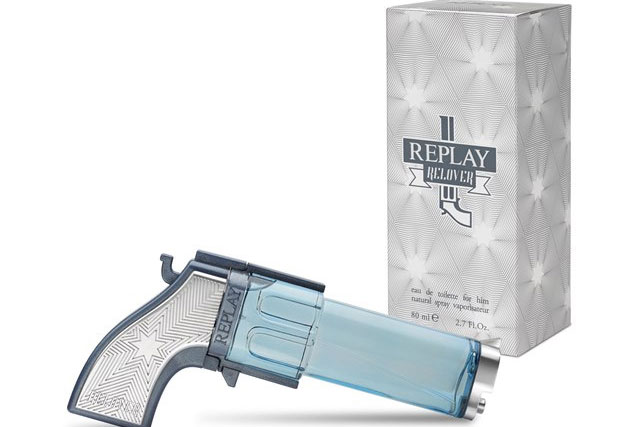 2. Any aftershave that's shaped like a gun, diamond, eagle or gold bar.