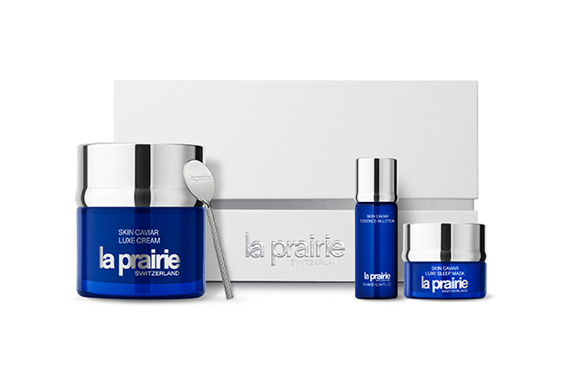 20. La Prairie Skin Caviar Holiday Kit The ultimate luxe skincare experience, la Prairie's iconic Skin Caviar range comes packed with a Skin Caviar Essence-in-Lotion 10ml, Skin Caviar Luxe Cream 50ml and a Skin Caviar Luxe Sleep Mask 5ml. Clad in a pristine white box, it's ideal for splurging on a loved one- we promise there'll be no complaints.  La Prairie Skin Caviar Holiday Kit, $575 at La Prairie counters at select David Jones stores and at laprairie.com.au