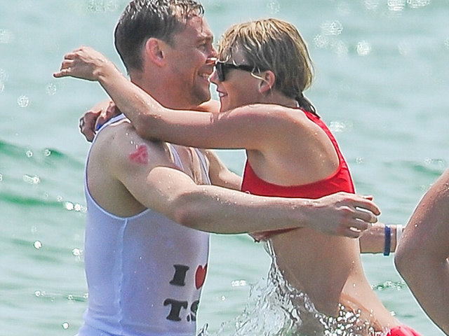 Hiddleswift. We know Tay's ex Calvin Harris was fuming because he got all pissy on Twitter about it, but the whole world threw up a little when Tom Hiddleston - former respectable British actor - donned an 'I heart TS' tee and frolicked in the surf with an assortment of Taylor's rent-a-crowd friends.