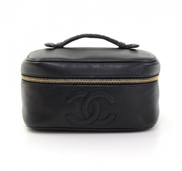 Make-up bag: My Chanel Vanity Black Caviar leather bag is so cute and easy to pack, which is important because I'm constantly traveling!