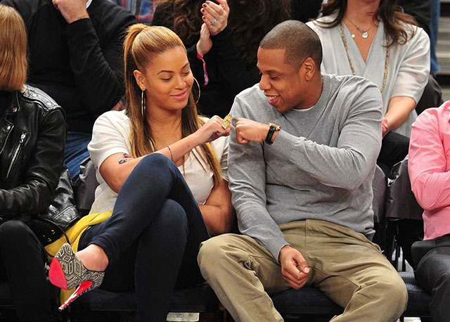 When her and Jay-Z were couple goals courtside