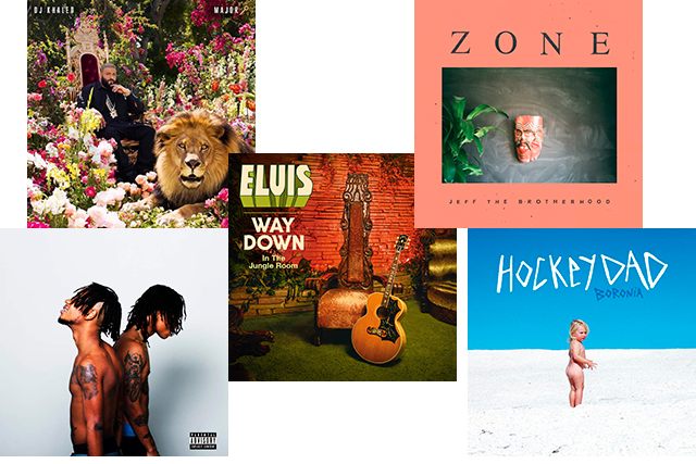 Monday, August 22: Time to check in with the new music drops so far (hopefully by the time you're reading this Frank Ocean will be one… but who knows). In the past few weeks, some awesome records have surfaced including: DJ Khaled, 'Major Key'; Hockey Dad, 'Boronia'; JEFF The Brotherhood, 'Zone'; Rae Sremmurd, 'StremmLife2' and Elvis Presley's awesome uncovered tapes, 'Way Down In the Jungle Room'.