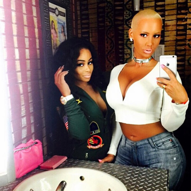 But, wait! Hold onto your Love bangles! The bizarre love square doesn't even stop at Kylie, Tyga, Rob and Chyna. Did you know that Chyna and Amber Rose also happen to be besties?
