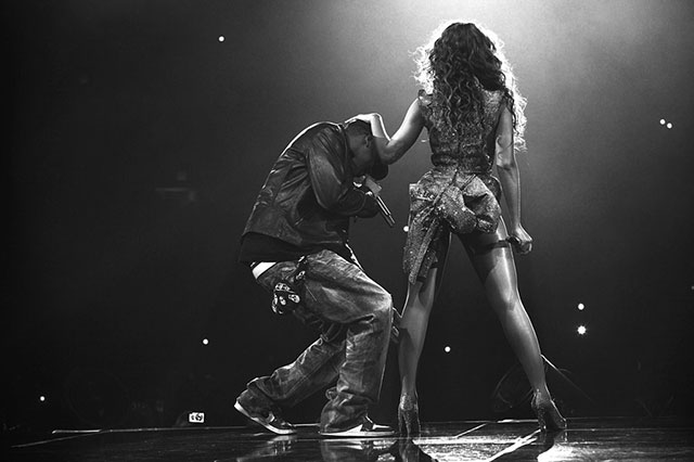 When she performed at the 2014 Grammy's with Jay-Z