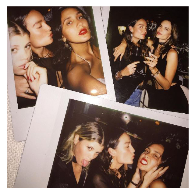 They also party together, with people like Alessandra Ambrosio.