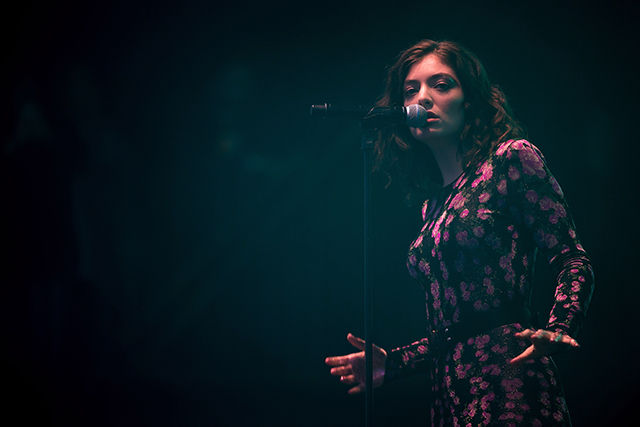 Lorde performing on day 2