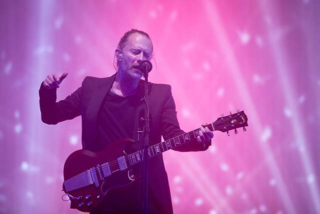 Radiohead's Thom Yorke performing on June23