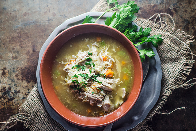 2. Chicken soup. Is there anything that chicken soup can't fix? A bowl of this humble healing broth is hydrating, replaces lost sodium and provides valuable amino acids, including cysteine.