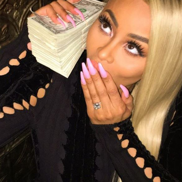 Blac Chyna (real name: Angela White) confirms she'll be legally going by Angela Kardashian once the pair are married. Presumably, becoming a Kardashian will also lead to wads of cash.