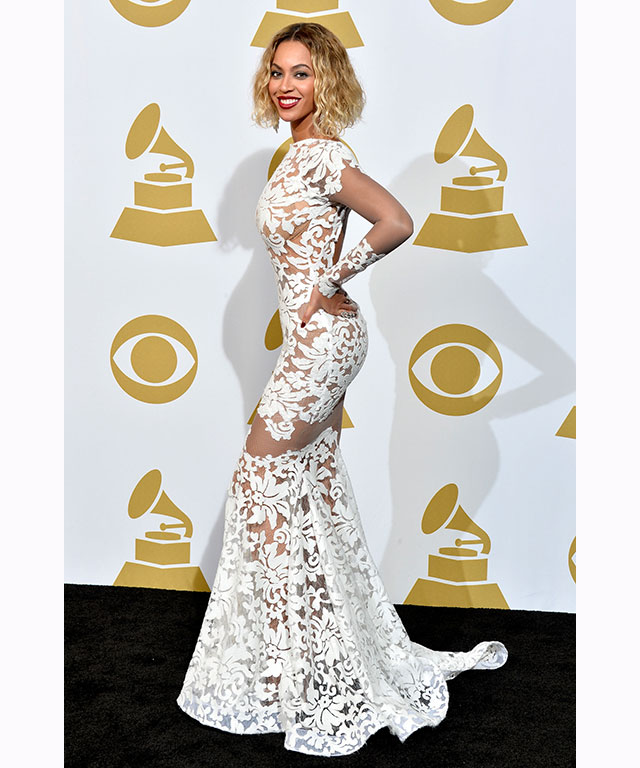 This Michael Costello gown that she wore at the 2014 Grammys