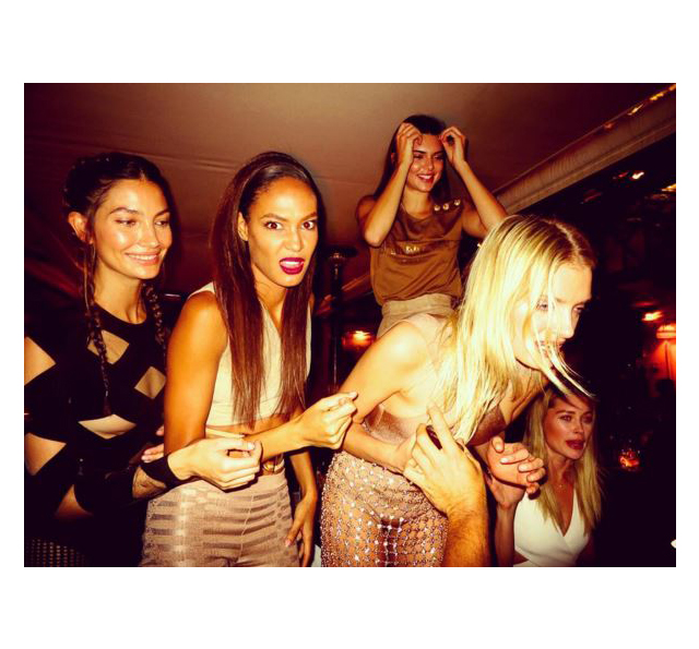 Lily Aldridge, Joan Smalls, Kendall Jenner, Lily Donaldson and Doutzen Kroes