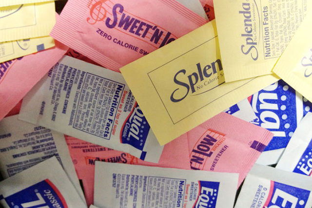 3. Artificial Sweeteners  There are many different types of artificial sweeteners (sucralose, aspartame, cyclamate, saccharin and others), all of which are damaging in different ways. Aspartame, the most widely used, has been shown to be carcinogenic (cancer causing) and has been linked to obesity. Artificial sweeteners were once touted as a weight-loss aid, but studies have shown they actually have the opposite effect. By providing a super sweet taste with no calories, they induce a state of 'metabolic derangement', which has been linked to weight-gain and diabetes type 2.