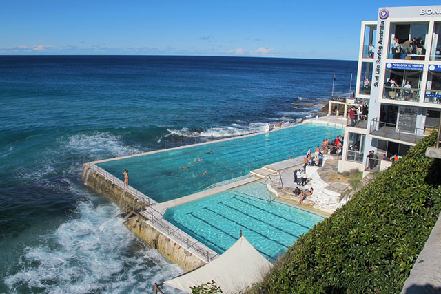 Bondi Icebergs Club: Poolside drinks feel so Sydney summer and Bondi Icebergs Club is the ultimate room with a view to get that summer feeling. Swim first, drink after. You've earned it. 1 Notts Ave, Bondi