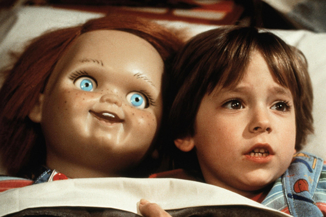 'Child's Play' – A possessed doll that comes alive to terrorise people might seem innocuous at first, but the murderous Chucky sure frightened the pants off kids (and a fair few adults) in its day.