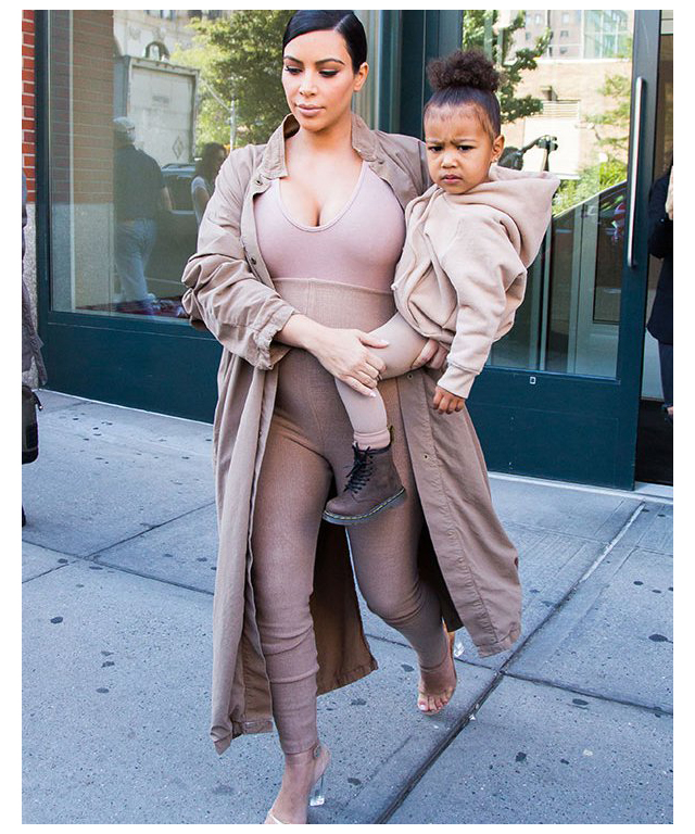 Kim Kardashian-West and mini-me North West stepped directly from the Yeezy catwalk into a sea of beige, and it's scarily bad.
