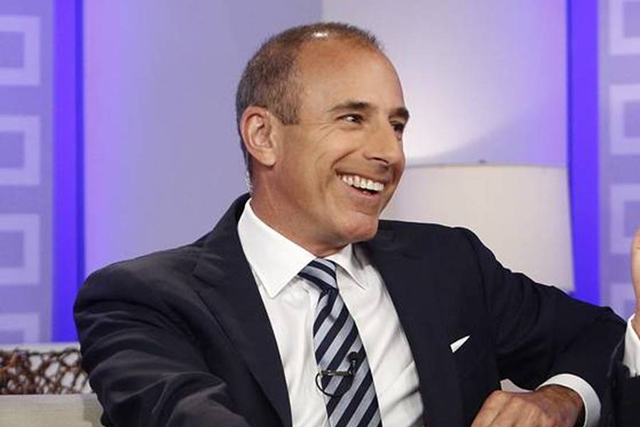 Matt Lauer host of 'Today' show annual salary $25 million USD