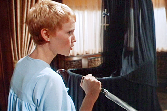 'Rosemary's Baby' – Is Mia Farrow carrying the devil's spawn? That's the central question of Roman Polanski's 1968 intense psychological thriller.