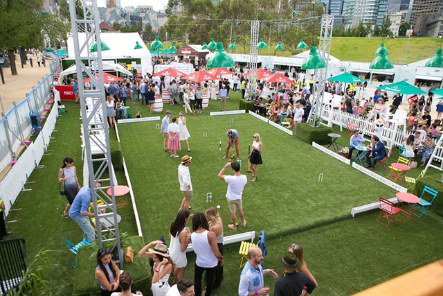 "The Royal Croquet Club: Croquet is the perfect low-fi ""sport"" to combine with an afternoon of sunshine and cool beverage sipping. Thanks to The Royal Croquet Club this dream turns reality via their North Bondi pop-up from November 24 to December 4."