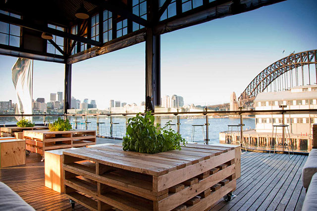 The Theatre Bar at the End of the Wharf: Harbour-side drinks with a game of ping pong to showcase your hand-eye? The Theatre Bar at the End of the Wharf says yes. Up the culture quotient by adding in a show at the theatre attached. Pier 4, Hickson Rd, Walsh Bay