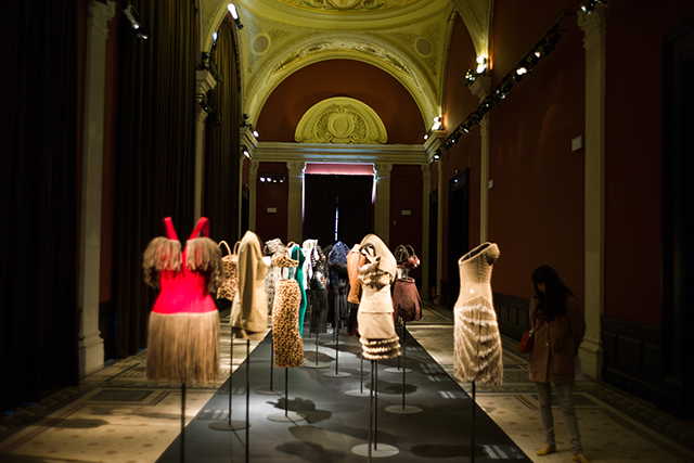 The legendary couturier's fashion retrospective at the Paris Palais Galliera in 2014 (image: Getty)