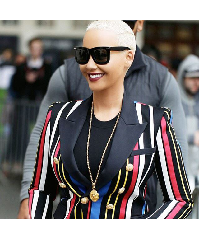 Amber Rose is bisexual.