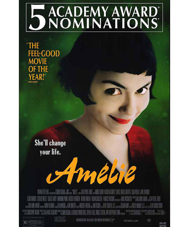 Amélie: A modern classic for the noughties era, this 2001 flick not only placed its star Audrey Tatou on the map, it was a bona fide international box office and critical success. Nominated for five Academy Award and winner of six César Awards.