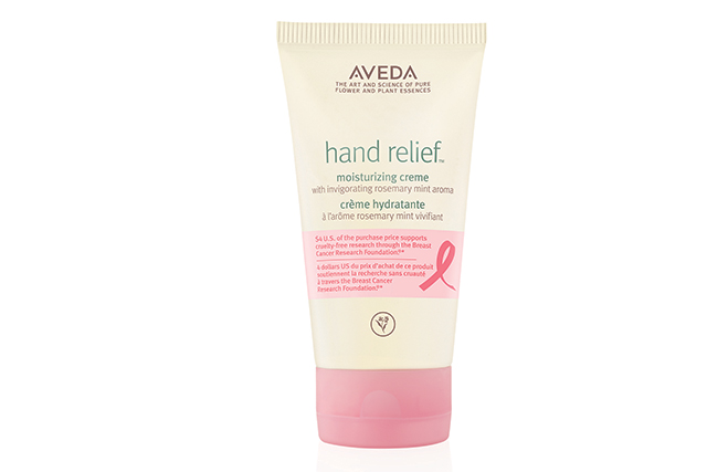 Aveda is bringing soft hands into focus with a special pretty pink Hand Relief Moisturizing Crème for $49.95. Aveda will donate $4USD from the purchase price to support cruelty-free research through the NBCF. Available from