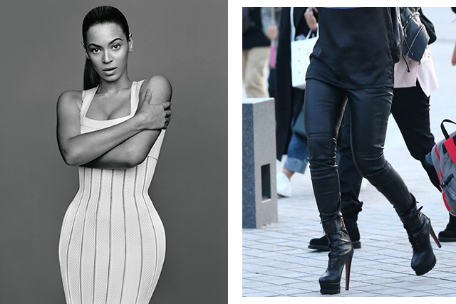 Beyoncé wears Alaïa dress and boots